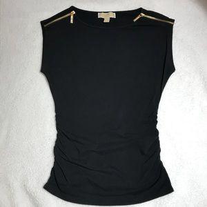 MICHAEL Michael Kors Tops - Michael Kors zipper sleeveless top size small